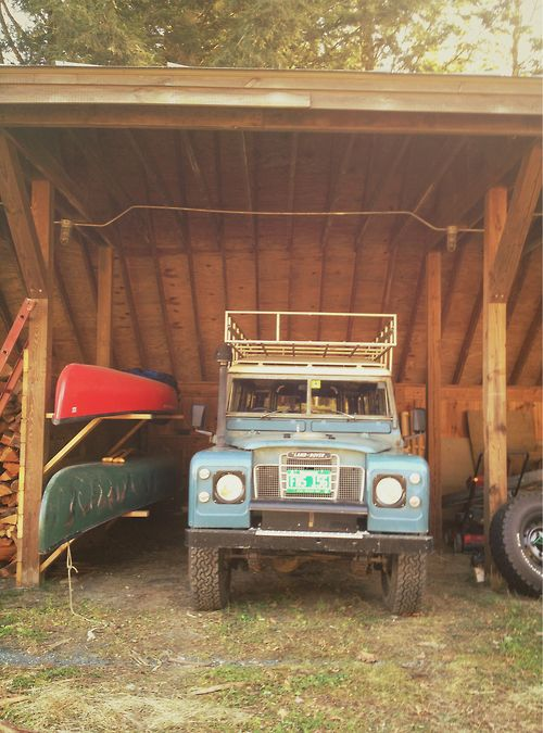 I took this at Sweetland Farm in Norwich, VT. I have a serious car crush going on here...