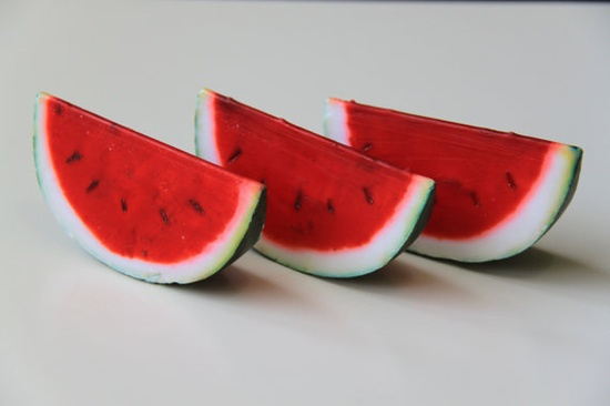 Handmade watermelon soaps - littledecoratives...