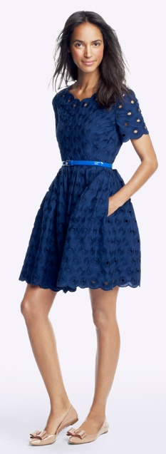 Blue dress, JCrew Factory