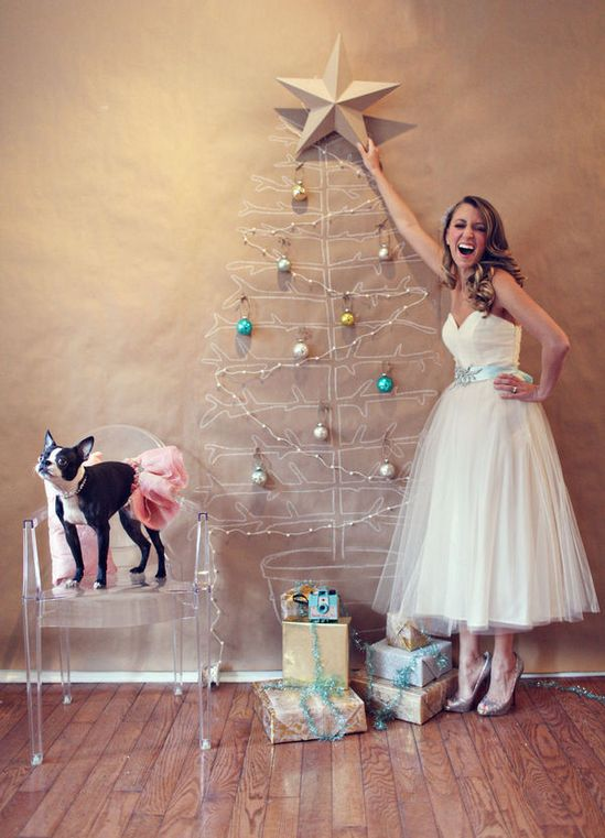 kraft paper Christmas tree