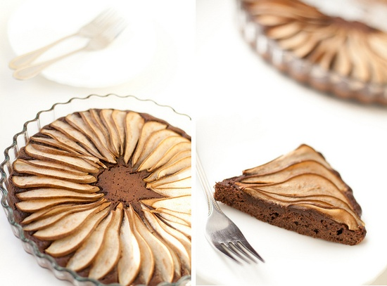 chocolate pear tart - great combo