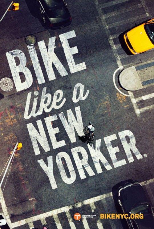 bike like a new yorker, ad for bikenyc.org