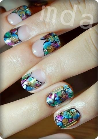 Stained Glass Nail Art ?