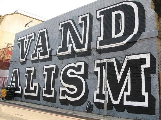Bold vandalism in London. #graffiti #typography