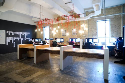 cool shared desk. Resolution Interactive Media Office Pictures by ReDesign