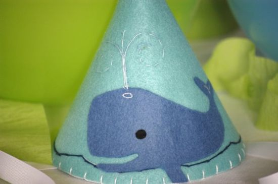 whale party hat! I would have the top of the hat have the spout with ribbon coming out of it!