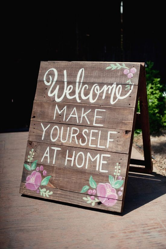 Welcome wedding sign // photo by Ally Michelle // ruffledblog.com/...