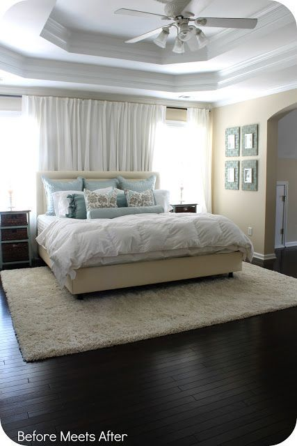 Before Meets After: Master Bedroom Update: A New Rug #modern floor design #floor design #floor interior design