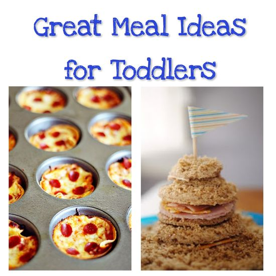 Meal ideas for toddlers