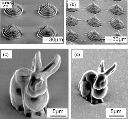 Charred micro-bunny sculpture shows promise of new 3-D shaping