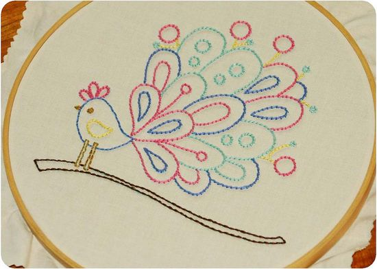 embroidery bird