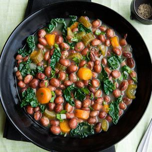 Kale and Good Mother Stallard Bean Stew by williams-sonoma #Stew #Beans #Kale #Healthy