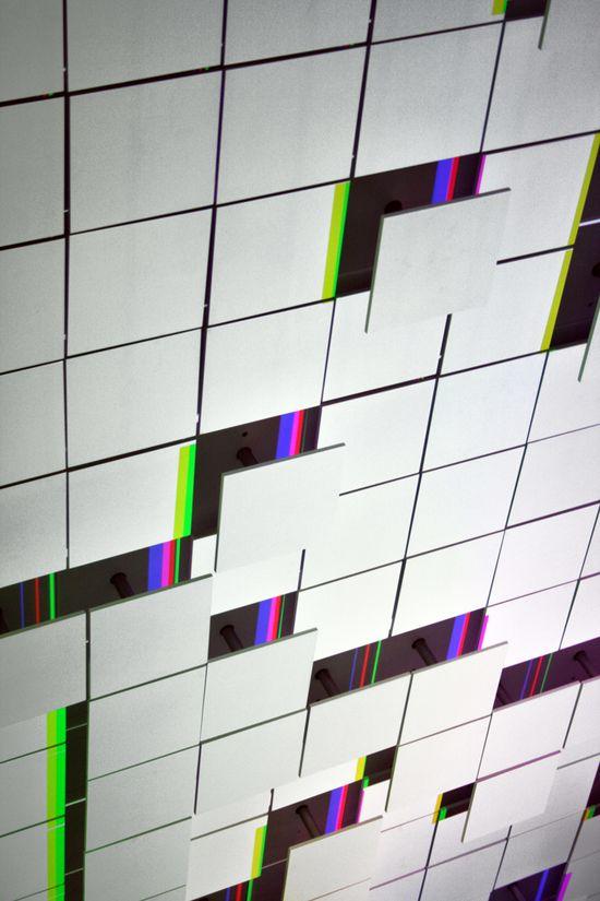 LAb[au]'s m0za1que a kinetic light art installation - designboom