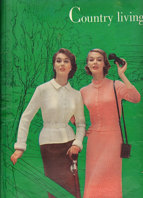 Stylish knitwear for 1950s country living. #vintage #1950s #fashion #dress