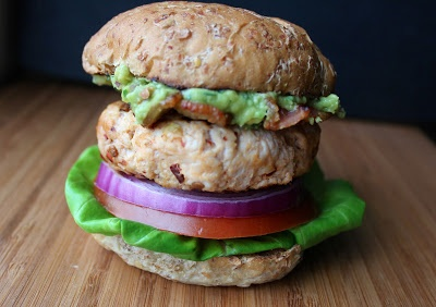 Chipotle Turkey Burger with Guacamole & Bacon by domesticate-me #Burgers #Turkey #Chipotle