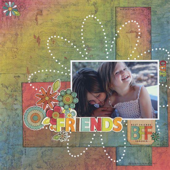 Sisters - Friends - Scrapbook.com - #scrapbooking #layouts #thecraftersworkshop #advantus #diecutswithaview