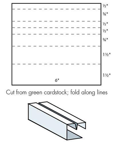 Pop-up Gift Card Holder diagram