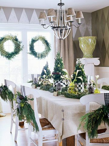 country table - Christmas