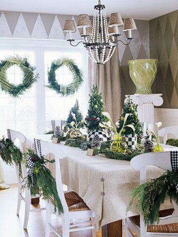country table - Christmas