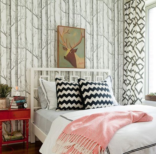 Love this bedroom from @WestElm blog