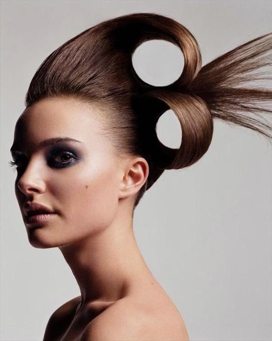 Creative hair.