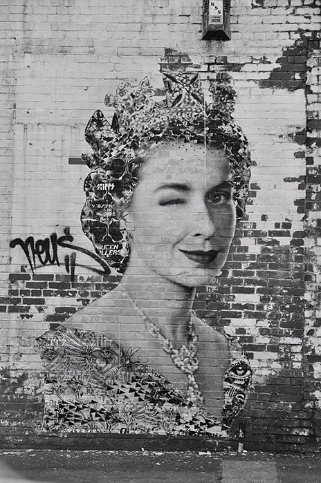 God save the Queen, #Jubilee #StreetArt