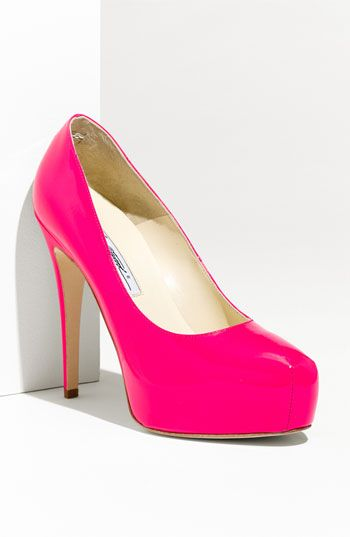 Now that's pink!  $595 Brian Atwood pumps.