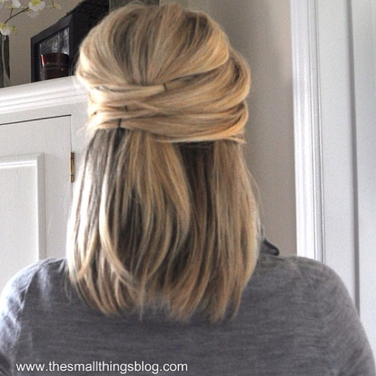 Cute half up hair style