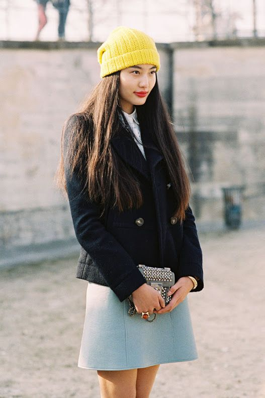 Pop of color with a hat