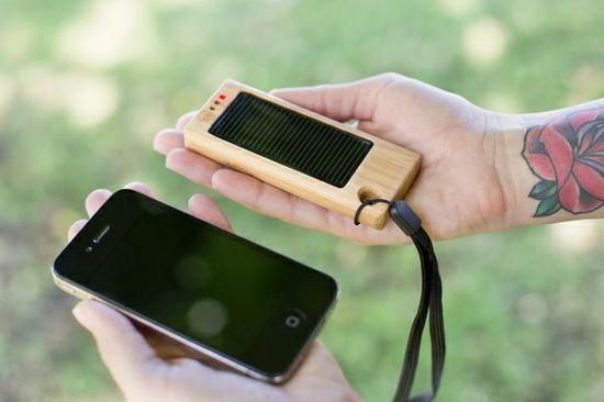 The Bamboo Solar Charger charges any Phone or Tablet - $35.00