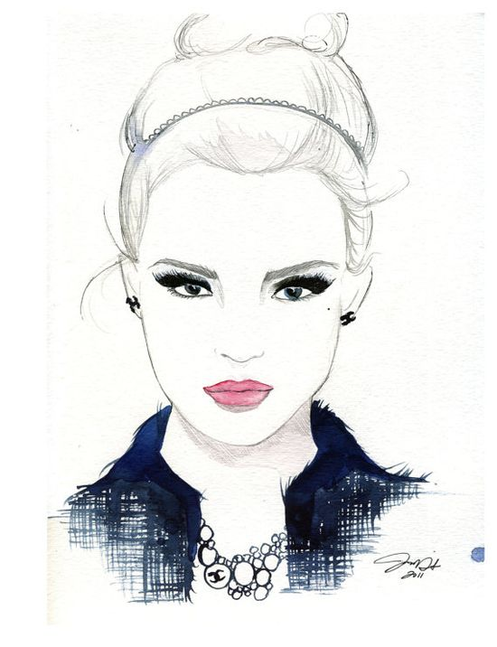 She Wore Chanel, #fashion #illustration #chanel