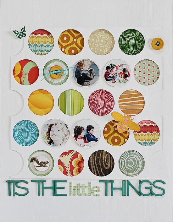 Love all little circles #scrapbook