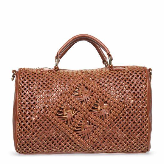 Stylish woven handbag.