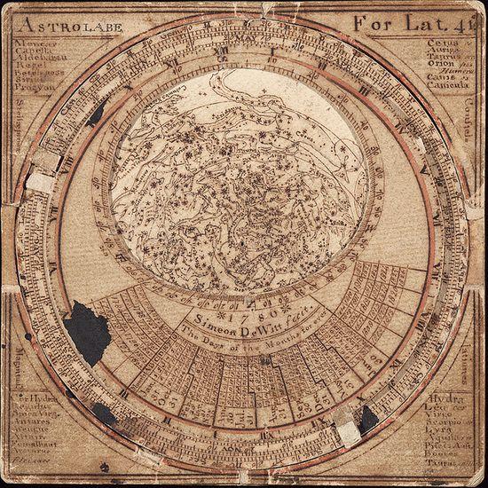 Simeon De Witt's Star map - 1780