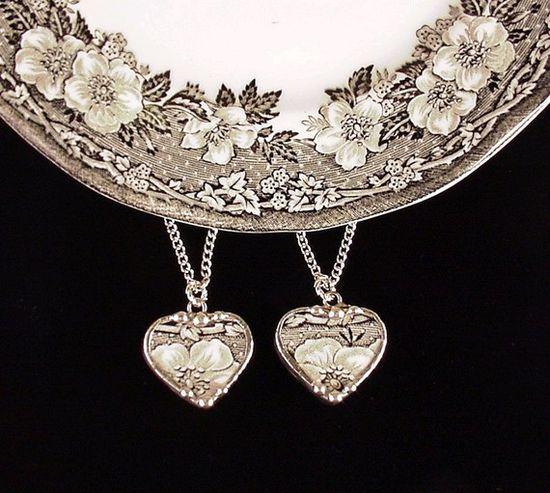 broken china jewelry hearts
