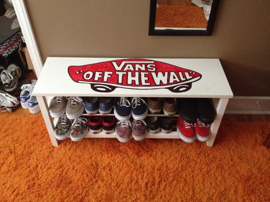 Sharpied my shoe rack...
