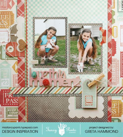 """""""love this Moment"""" layout - Scrapbook.com"""