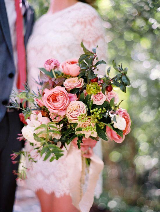Big wedding bouquet!
