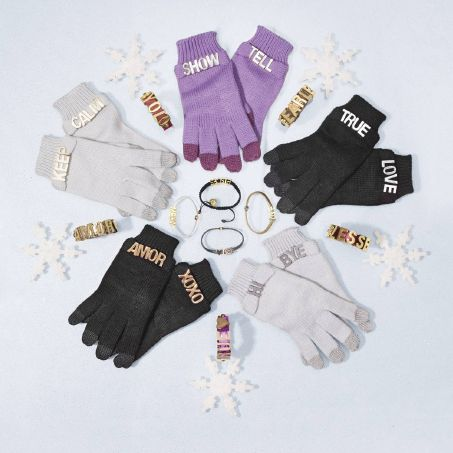 Express yourself with these fun bracelets and gloves from   BCBGeneration. Word!