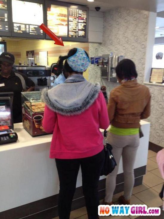 Welcome To McDonald's Is That Underwear On Your Head? - NoWayGirl
