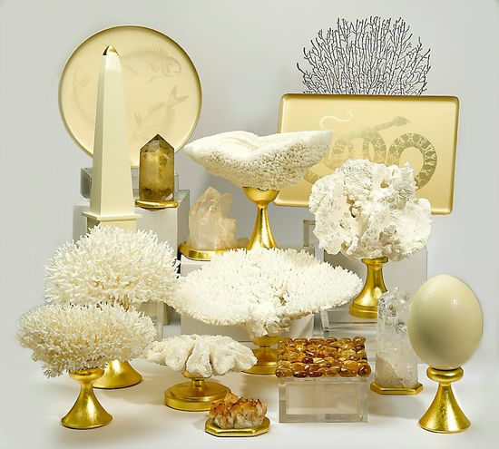 Luxe Designer 24kt Gold Ivory Tabletop Decoratives, So Beautiful, Sharing Hollywood Luxury Lifestyle Home Decor & Gift Ideas Courtesy Of InStyle-Decor.com Beverly Hills Enjoy & Happy Pinning