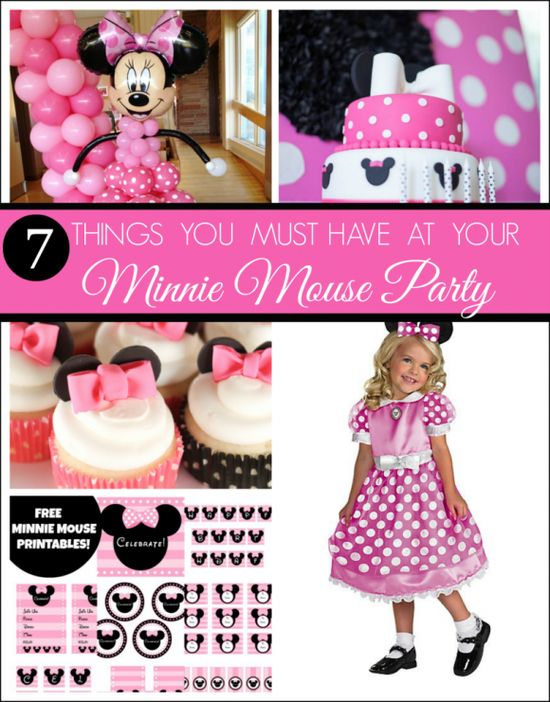 7 Must Have Minnie Mouse Party! See more party ideas at CatchMyParty.com. #minniemouse #girlbirthday #partyideas