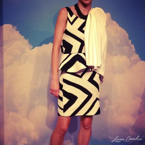Black and white peplum look from the Alice + Olivia Spring 2013 collection @FashionWeek