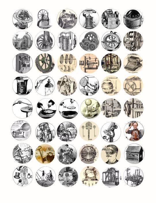 antique machines inventions science steampunk hardware clip art
