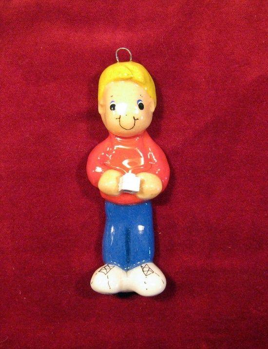 lego block ornament handmade bread dough by JudyCaron on Etsy,