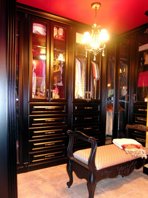 Moulin Rouge themed closet, hate the movie but very cool closet