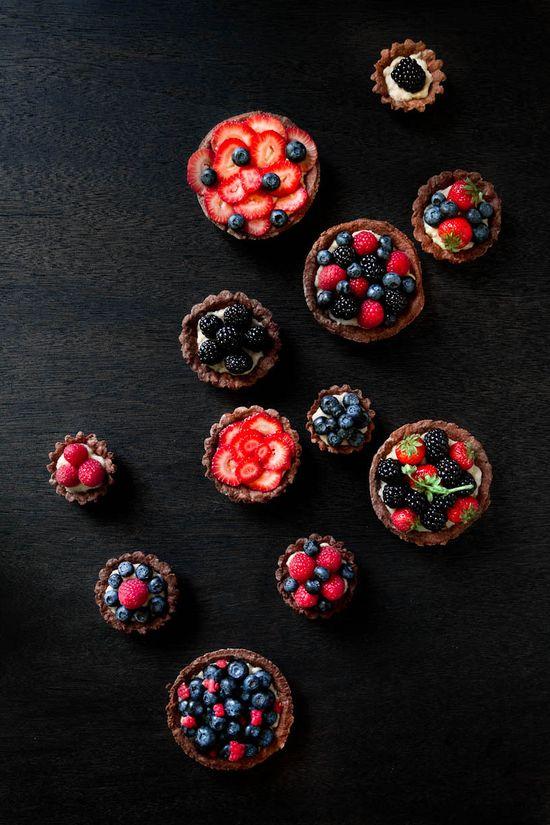 berry fruit tarts