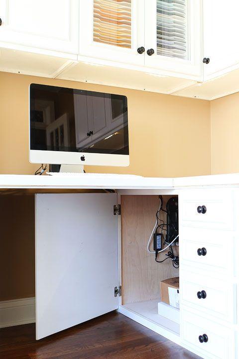 Office ideas - hiding all the cords!!