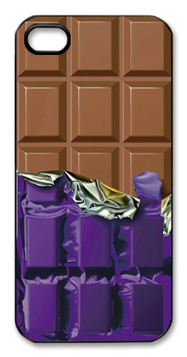 Chocolate Candy Bar in Purple Wrapper Hard Plastic Case for Apple iPhone 5