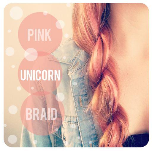 unicorn braid (rope braid)